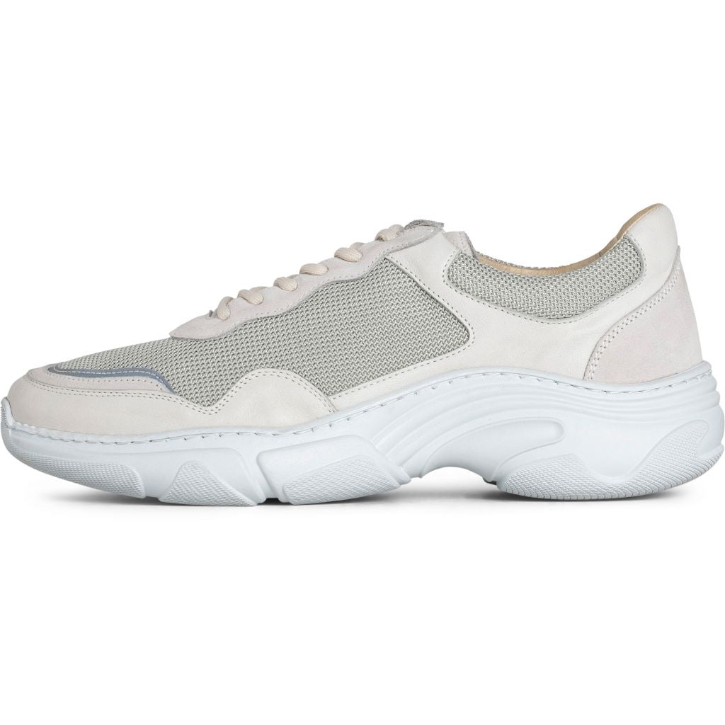 Flex Sneaker Off White Leather Nylon - Townsfolk