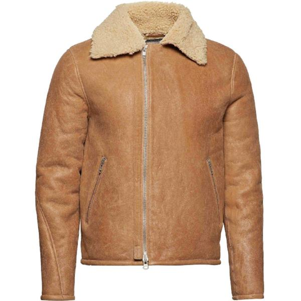 MDK Meckley shearling jacket brown - Townsfolk