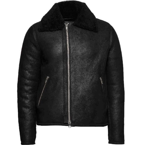 MDK Meckley shearling jacket black - Townsfolk