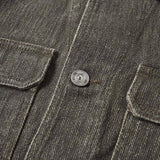 Mono Jacket Coated Grey Linen - Townsfolk