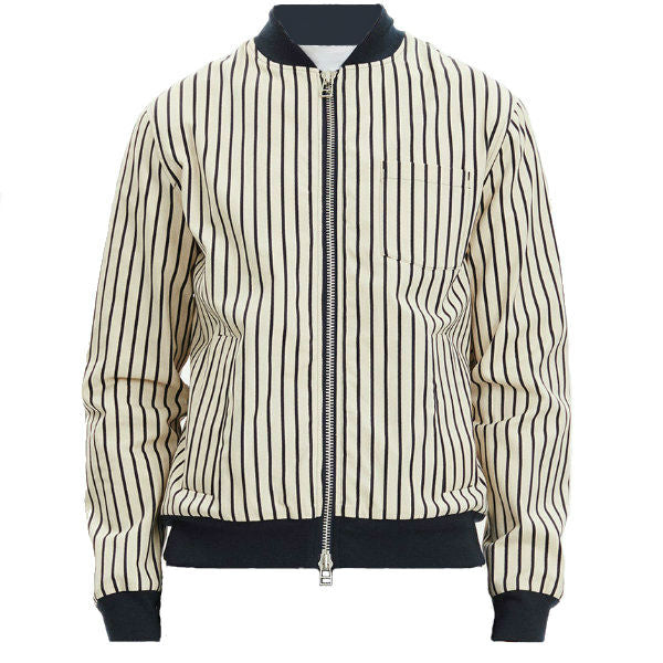Nightmare Jacket Off White w. Navy Stripe - Townsfolk