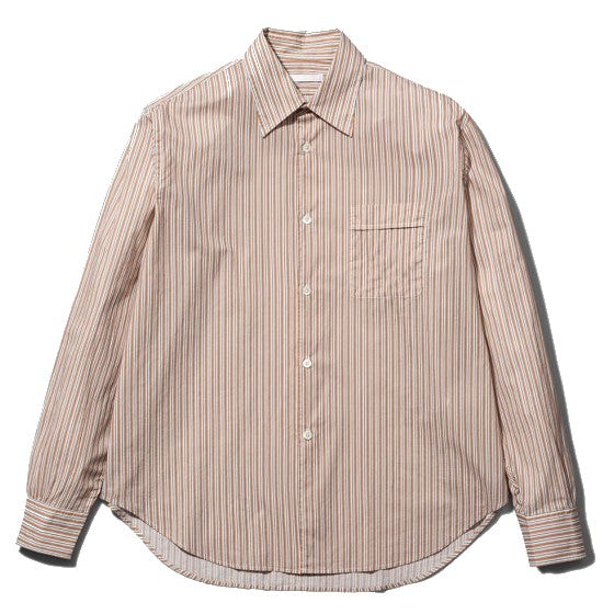 Policy shirt orange stripe voile