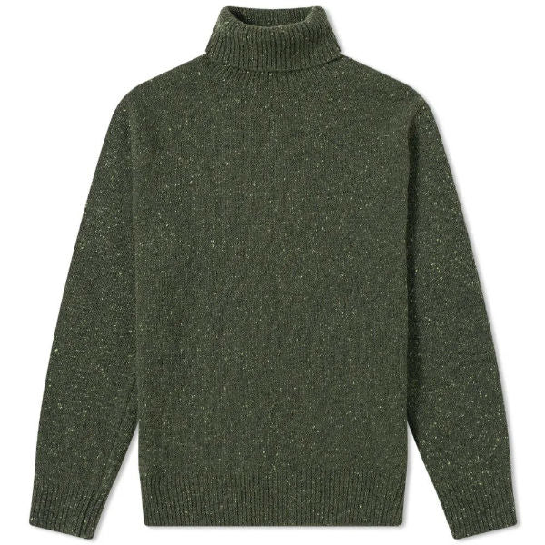 Roll Neck Lambswool Olive - Townsfolk