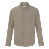 Noah Tencel Shirt Brown - Townsfolk