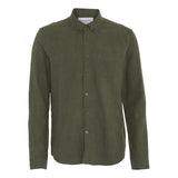 Noah Texture Shirt Green - Townsfolk