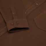 Noah Fleece Shirt Brown - Townsfolk