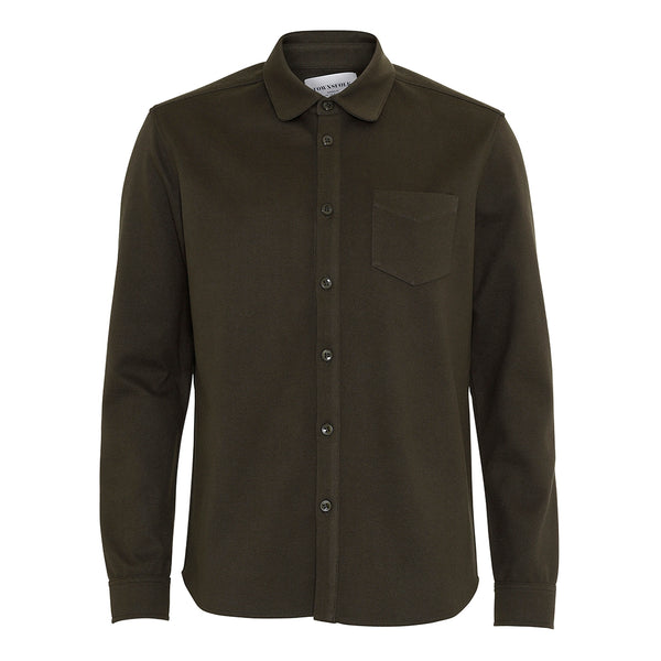 Noah Fleece Shirt Olive - Townsfolk