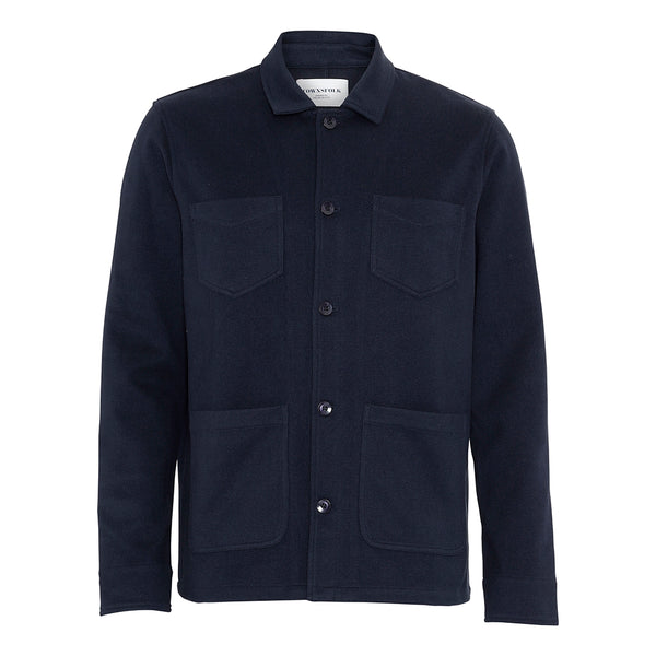 Worker Jacket Fleece Navy - Townsfolk