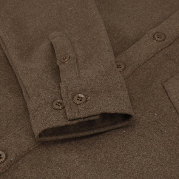 Noah Shirt Wool Brown - Townsfolk