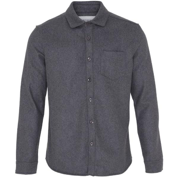 Noah Shirt Wool Grey - Townsfolk