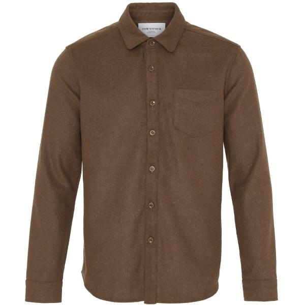Noah Shirt Wool Brown