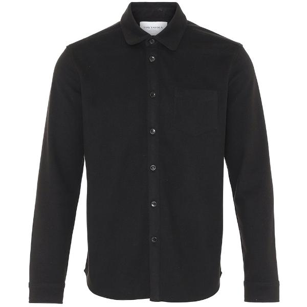 Noah Fleece Shirt Black - Townsfolk