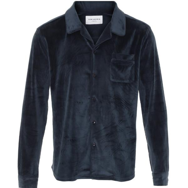 Don Shirt Navy Velour - Townsfolk