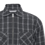 Patrick zip grey check