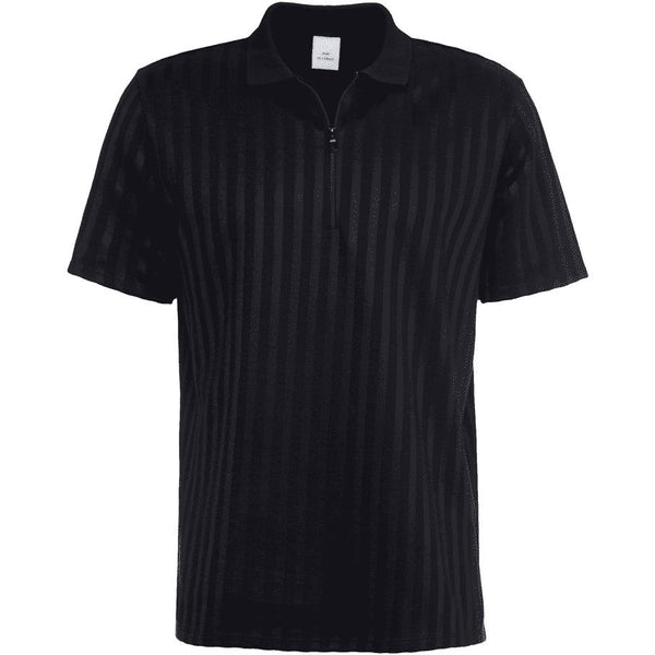 Sean Zip Polo Black - Townsfolk