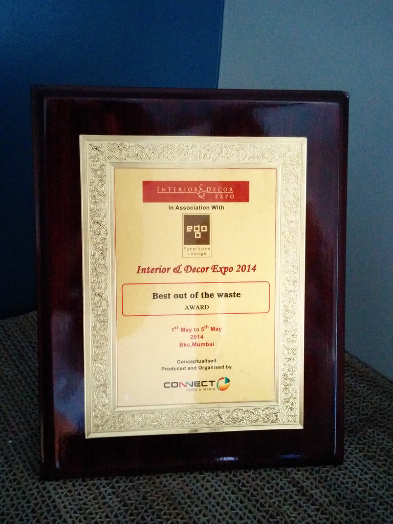 best out of waste award interior and decor expo 2014