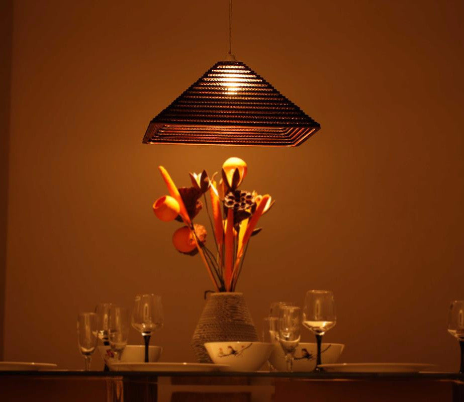 Pyramis Red Ceiling Light - Hanging Lamp - Sylvn Studio