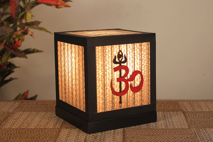 Aum Namah Shivay Table Lamp - Table Lamp - Sylvn Studio