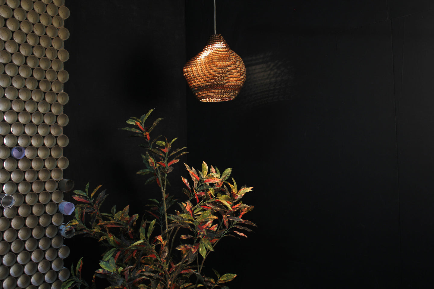 Pottery Pendent Lamp - Hanging Lamp - Sylvn Studio