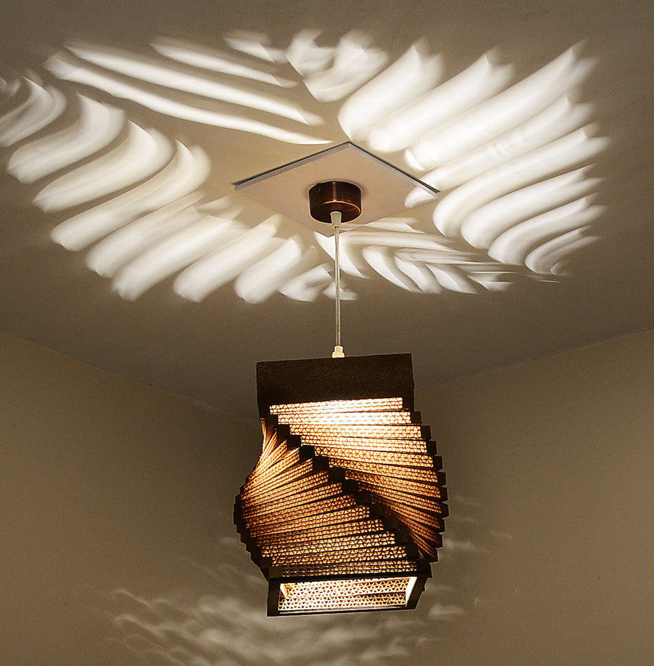 Helix Pendant Brown Ceiling Lamp - Hanging Lamp - Sylvn Studio