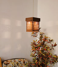 Lattice Brown Hanging Lamp - Hanging Lamp - Sylvn Studio