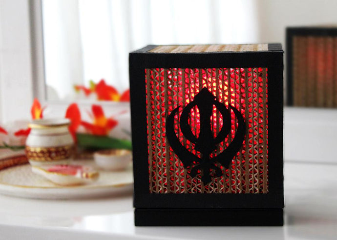 Sikh Khanda Table Lamp - Table Lamp - Sylvn Studio