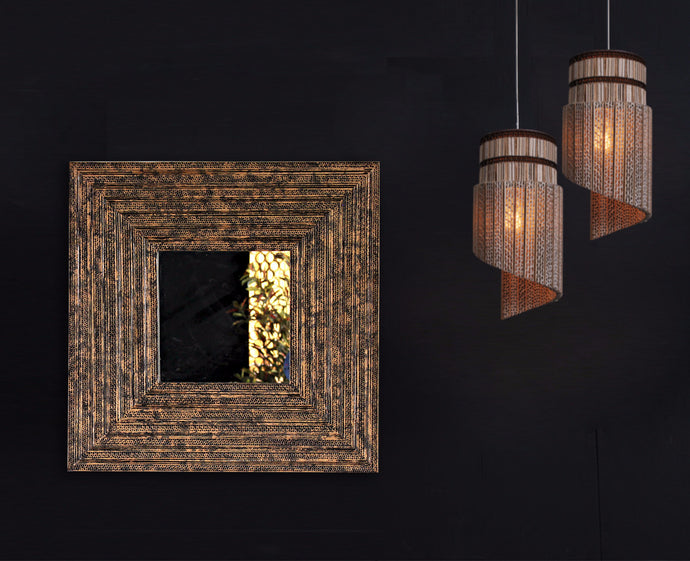 Rusted Copper Mirror – Square - Mirror - Sylvn Studio