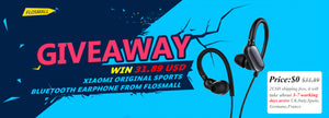 Win A Free Xiaomi Original Bluetooth Music Sport Earphone(Mini Version) From Flosmall