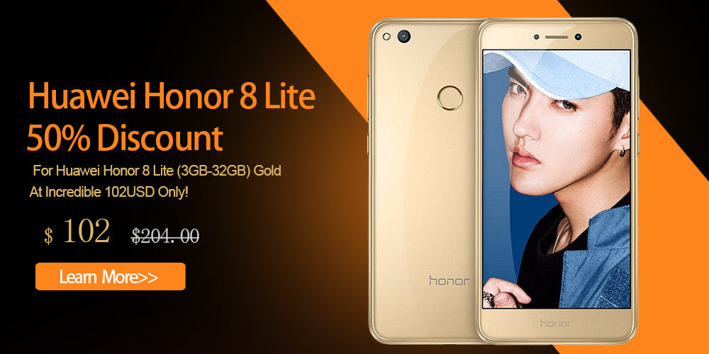 50% Discount For Huawei Honor 8 Lite (3GB-32GB) Gold At Incredible 102USD Only!