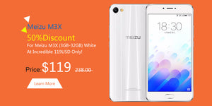 50% Discount For Meizu M3X (3GB-32GB) White At Incredible 119USD Only!