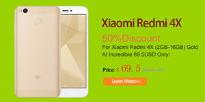 50% Discount For Xiaomi Redmi 4X (2GB-16GB) Gold At Incredible 69.5USD Only!