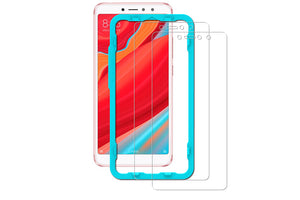 Ibywind Redmi S2 Tempered Glass Screen Protector with Bubble Free Installation Applicator,Anti-Fingerprint,without White Edges for Redmi S2(Pack of 2)-Transparent