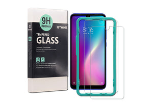 Ibywind Screen Protector for Redmi 7 [Pack of 2] 9H Tempered Glass Screen Protectors with Easy Install Kit-Transparent