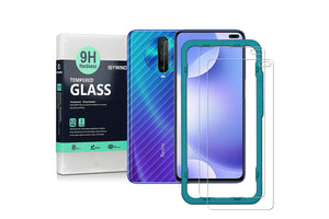 Ibywind Screen Protector for Redmi K30 [Pack of 2] with Camera Lens Tempered Glass Protector,Back Carbon Fiber Skin Protector,Including Easy Install Kit