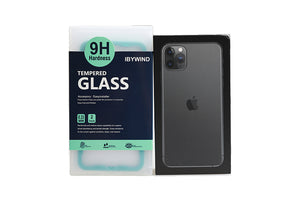 Ibywind Screen Protector for iPhone 11 Pro Max [Pack of 2] with Back Carbon Fiber Skin Protector,Including Easy Install Kit