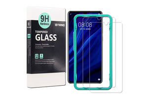 Ibywind Screen Protector for Huawei P30 Lite [Pack of 2] 9H Tempered Glass Screen Protectors with Easy Install Kit-Transparent