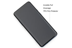 Ibywind Clear TPU Film Screen Protector For OnePlus 7T Pro/OnePlus 7 Pro,[Pack of 2],Camera Lens Protector,Back Carbon Fiber Film Protector,In-Display Fingerprint Support,Bubble Free