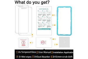 [2PCS Pack] Xiaomi Mi A1 Screen Protector,**Bubble Free Installation Applicator** Flos Tempered Glass Screen Protector [Anti-Fingerprint] For Xiaomi Mi A1-Transparent