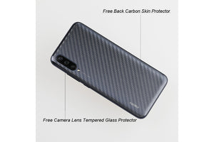 Ibywind Screen Protector for Xiaomi Mi 9 Lite [Pack of 2] with Camera Lens Tempered Glass Protector,Back Carbon Fiber Skin Protector,Including Easy Install Kit
