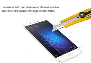 [2PCS PACK] Xiaomi Mi 5 SCREEN PROTECTOR,**BUBBLE FREE INSTALLATION APPLICATOR** FLOS TEMPERED GLASS SCREEN PROTECTOR [ANTI-FINGERPRINT] FOR Xiaomi Mi 5 -TRANSPARENT