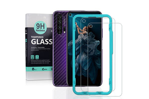 Ibywind Screen Protetor for Honor 20 Pro [Pack of 2] with Camera Lens Tempered Glass Protector,Back Carbon Fiber Skin Protector,Including Easy Install Kit
