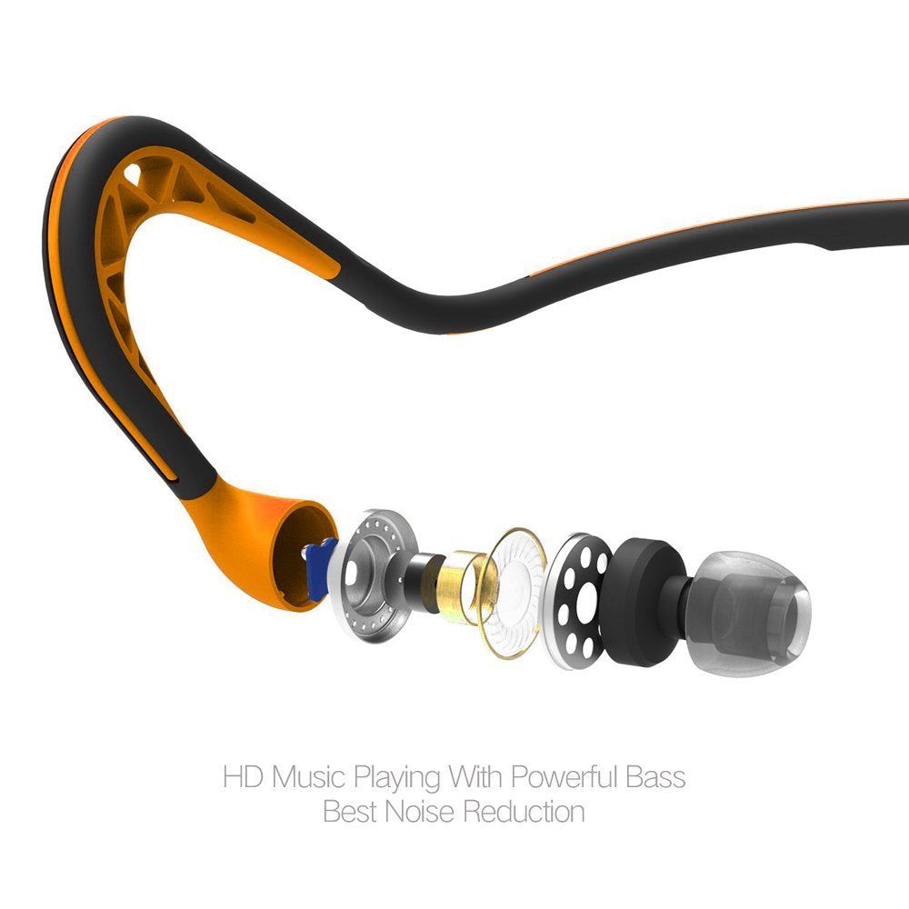 0f199632f1f Flos S15 Wired Stereo In-Ear Earbuds Neckband Headphones / Earphones /  Headsets with Mic and Play/Pause Remote for Sports Lovers - Sweatproof, ...