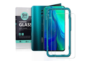 Ibywind Screen Protector for OPPO Reno [Pack of 2] with Back Carbon Fiber Skin Protector,Including Easy Install Kit