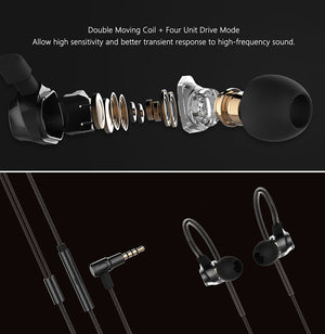 RM-580 Sports Earhook Headphones Earbuds Earphones With Microphone - Sweatproof, Noise Cancelling, HIFI Stereo Bass, Crystal Clear Sound, Ergonomic Comfort-Fit Design, Best for Running