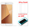 [2PCS PACK] Xiaomi Redmi Note 5A SCREEN PROTECTOR,**BUBBLE FREE INSTALLATION APPLICATOR** FLOS TEMPERED GLASS SCREEN PROTECTOR [ANTI-FINGERPRINT] FOR Xiaomi Redmi Note 5A -TRANSPARENT