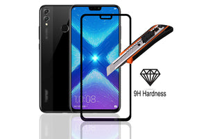 Ibywind Honor 8X Screen Protector [Pack of 2]-3D Full Coverage Premium Tempered Glass Screen Protectors with Easy Install Kit for Honor 8X
