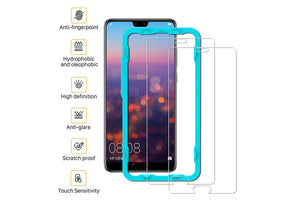 Ibywind 2PCS Pack Huawei P20 Screen Protector,**Bubble Free Installation Applicator Tempered Glass Screen Protector [Anti-Fingerprint] For Huawei P20-Transparent