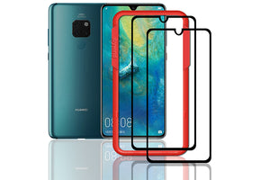 Ibywind Huawei Mate 20 Screen Protector [Pack of 2]-3D Full Coverage Premium 9H Tempered Glass Screen Protectors with Easy Install Kit for Huawei Mate 20