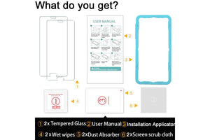 Ibywind 2PCS Pack Huawei P20 Pro Screen Protector,**Bubble Free Installation Applicator Tempered Glass Screen Protector [Anti-Fingerprint] For Huawei P20 Pro-Transparent