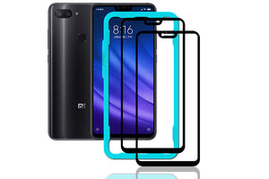 Ibywind Xiaomi Mi 8 Lite Screen Protector [Pack of 2]-3D Full Coverage Premium 9H Tempered Glass Screen Protectors with Easy Install Kit for Mi 8 Lite